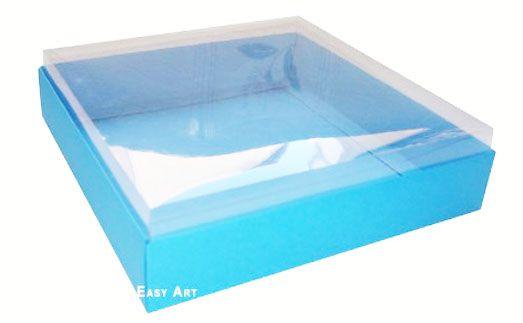 Caixa para 20 Brigadeiros - Azul Turquesa