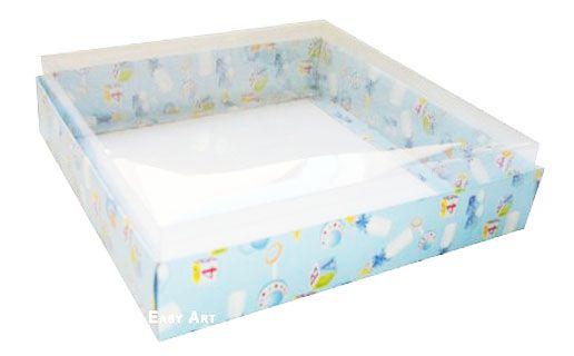 Caixa para 20 Brigadeiros - Estampado Bebê Azul