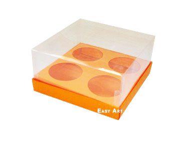Caixas para Mini Cupcakes - Laranja