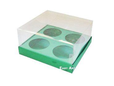 Caixas para Mini Cupcakes - Verde Bandeira