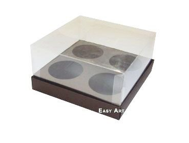 Caixas para Mini Cupcakes - Marrom Chocolate