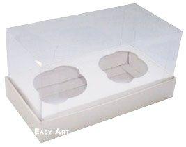 Caixas para 2 Mini Cupcakes - Branco