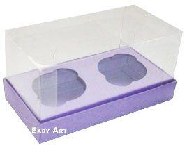 Caixas para 2 Mini Cupcakes - Lilás
