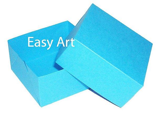 Caixa para 4 Brigadeiros - Azul Turquesa