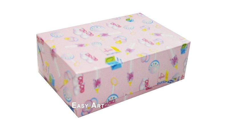 Caixas para 6 Brigadeiros - Estampado Bebê Rosa