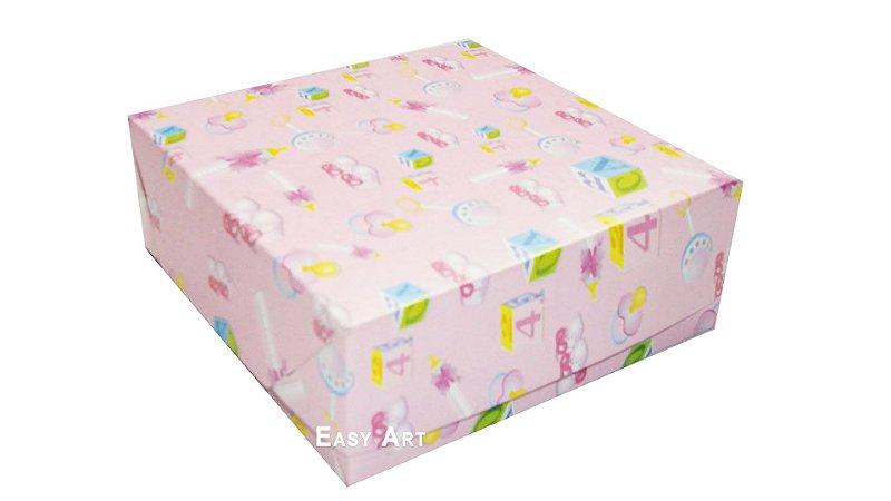 Caixas para 9 Brigadeiros - Estampado Bebê Rosa