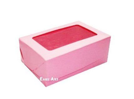 Caixa para 6 Brigadeiros - Rosa Claro