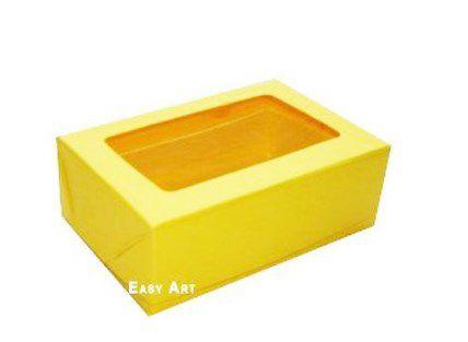 Caixa para 6 Brigadeiros - Amarelo