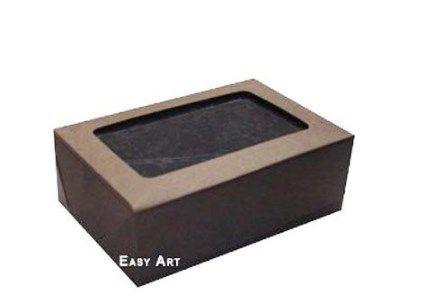 Caixa para 6 Brigadeiros - Marrom Chocolate