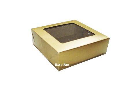 Caixa para 9 Brigadeiros - Dourado