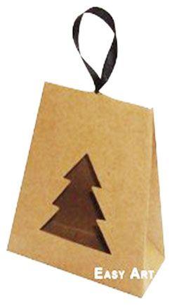 Caixa Árvore de Natal - Kraft