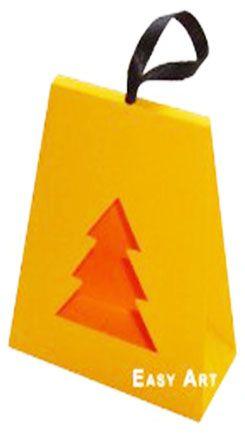 Caixa Árvore de Natal - Laranja Claro
