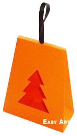 Caixa Árvore de Natal - Laranja