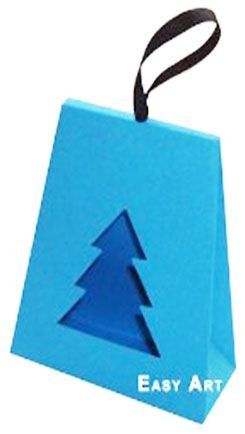 Caixa Árvore de Natal - Azul Turquesa