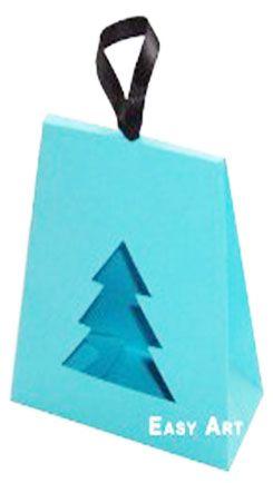 Caixa Árvore de Natal - Azul Tiffany