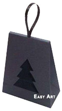 Caixa Árvore de Natal - Preto