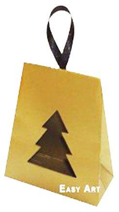 Caixa Árvore de Natal - Dourado Brilhante