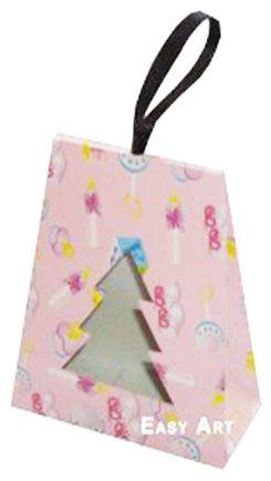 Caixa Árvore de Natal - Estampado Bebê Rosa