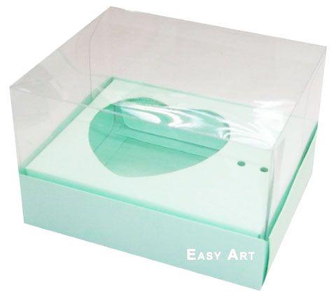 Caixa Coração de Colher / 100g - Verde Claro - Pct com 10 Unidades