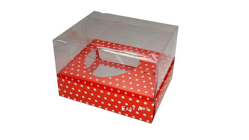 Caixa Coração de Colher - Vermelho Poa Branca