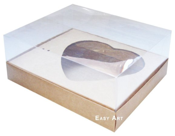 Caixa Coração de Colher 250g- Marrom Claro - Pct com 10 Unidades