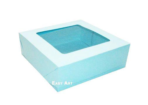 Caixa para 16 Brigadeiros - Azul Claro