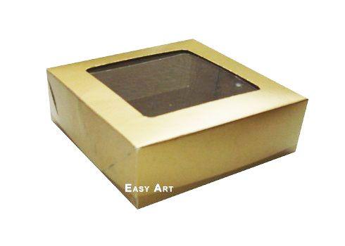 Caixa para 16 Brigadeiros - Dourado