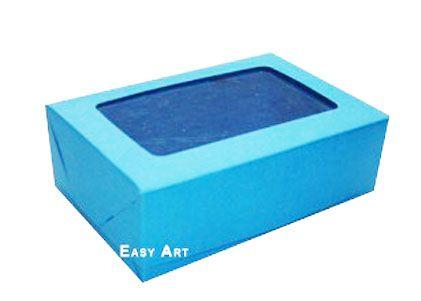 Caixas para 3 Brigadeiros - Azul Turquesa