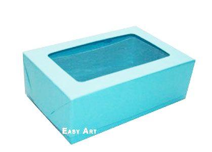 Caixas para 3 Brigadeiros - Azul Tiffany