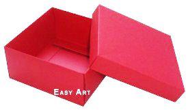 Caixa Tiffany Grande - Vermelho