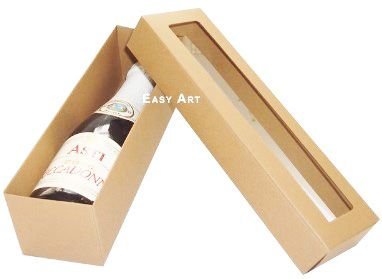 Caixa para Mini Vinho Com Visor - Pct com 10 Unidades