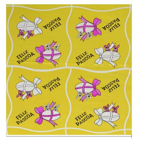 Papel Polimetalizado para Ovos de páscoa - 70 x 70