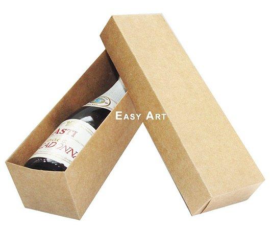 Caixa para Mini Vinho Sem Visor - Kraft