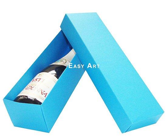 Caixa para Mini Vinho Sem Visor - Azul Turquesa