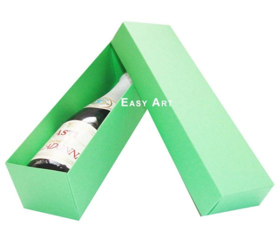 Caixa para Mini Vinho Sem Visor - Verde Pistache