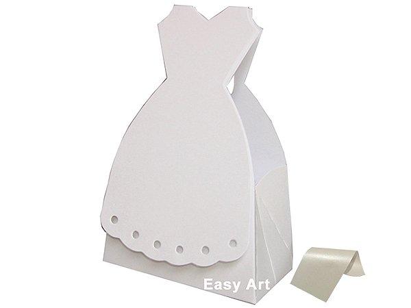 Caixinha Modelo Vestido de Noiva - 9x5x14