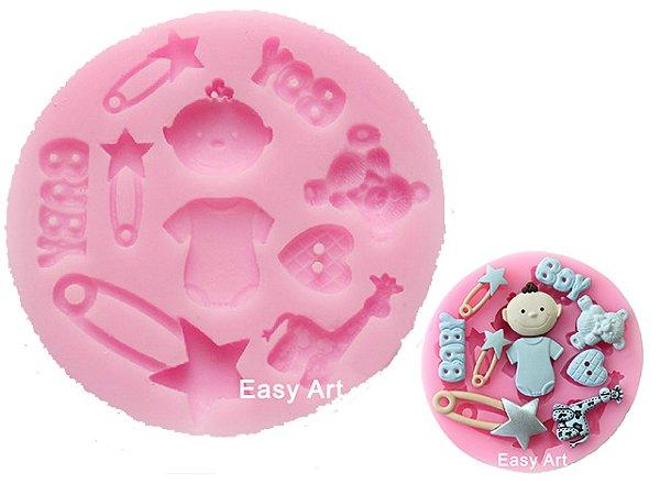Moldes de Silicone Coisas de Bebê 1 unidade - 8x1