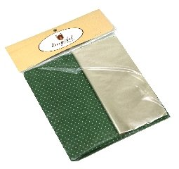 Kit para Bem Casados Verde com Poás Brancas - Crepom / Celofane - Poás - 18x18