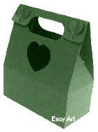 Caixa Maleta Coração - Verde Musgo