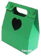 Caixa Maleta Coração - Verde Bandeira