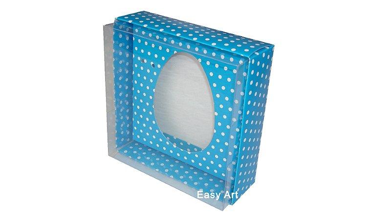 Caixas Ovos de Colher - 100 gramas Azul Poás Brancas