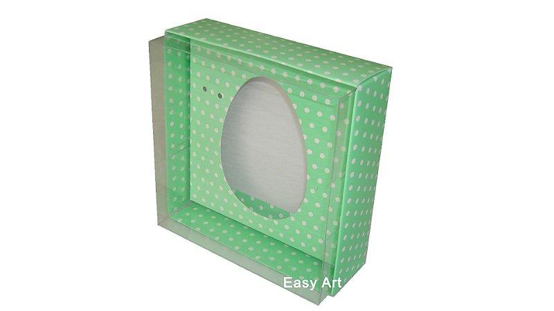 Caixas Ovos de Colher - 100 gramas Verde Poás Brancas