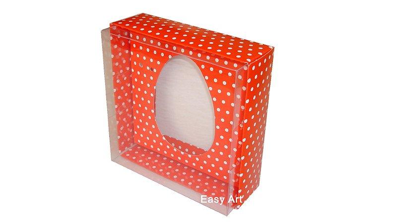 Caixas Ovos de Colher - 100 gramas Vermelho Poás Brancas