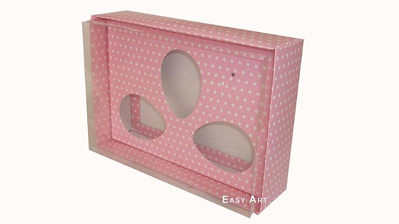 Caixas Trio Ovos de Colher - 100g Rosa Poás Brancas