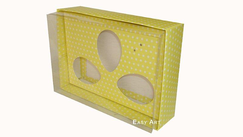 Caixas Trio Ovos de Colher - 100g Amarelo Poás Brancas