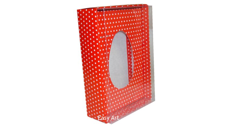 Caixas Ovos de Colher - 350g Vermelho Poás Brancas