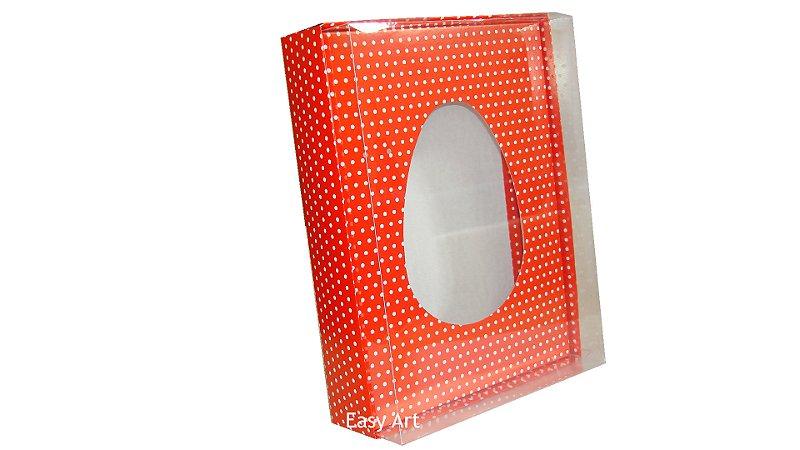 Caixas Ovos de Colher - 1 K Vermelho Poás Brancas