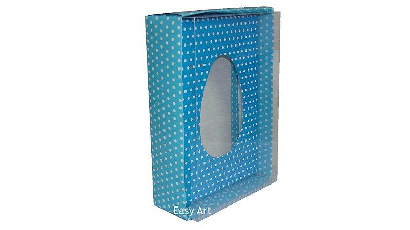 Caixas Ovos de Colher - 500g Azul Poás Brancas