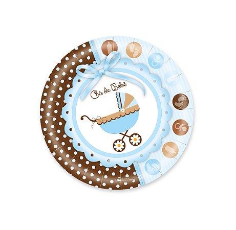 Pratos Decorados / Chá de Bebê Menino