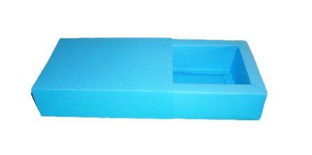 Caixas para 8 Brigadeiros - 20x11,5x4,5 / Azul Turquesa